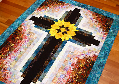 """Painted Cross, size: 42"""" x 54"""""""