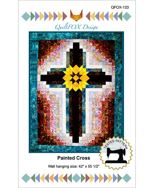"Painted Cross, size: 42"" x 54"""