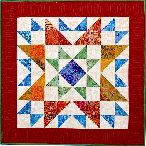"""Ohio Star table topper, size: 30"""" x 30"""""""