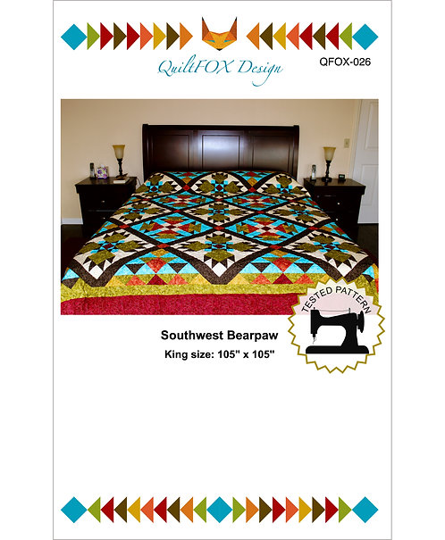 "Southwest Bearpaw, king size 105"" x 105"""