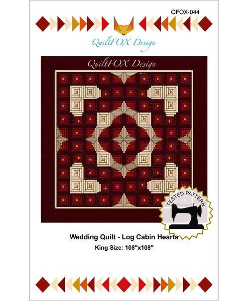 """Log Cabin Hearts, size: 108"""" x 108"""""""