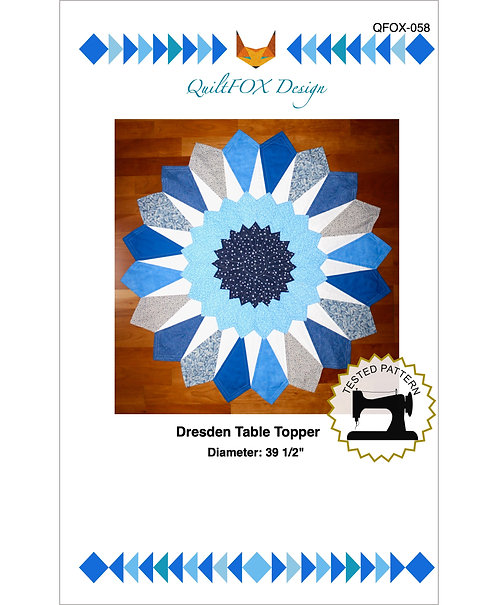 Dresden table Topper, diameter: 39 1/2""