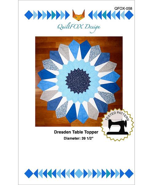 """Dresden Table topper, diameter: 39 1/2"""""""