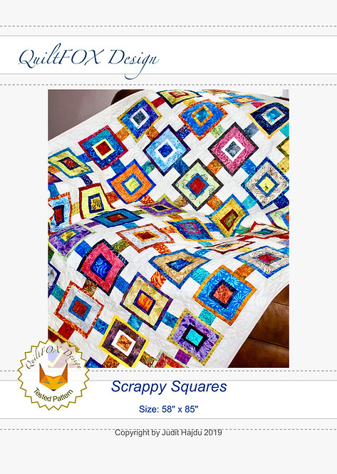 """Scrappy Squares, size: 58"""" x 85"""""""
