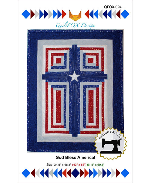 "God Bless America! Sizes: 34.5"" x 46.5"" (43"" x 58"") 51.5"" x 69.5"""