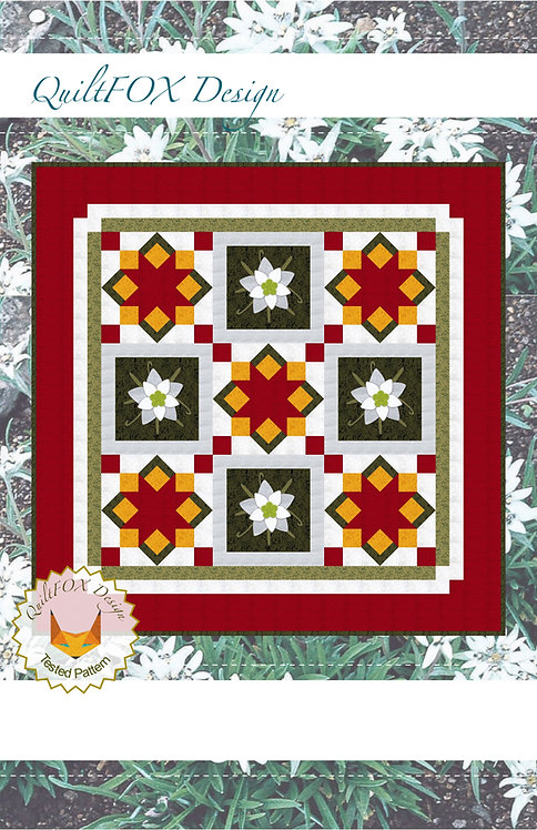 Chirstmas Table Topper with Edelweiss Applique