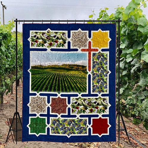 "Vineyard Labyrinth, size: 68"" x 85"""