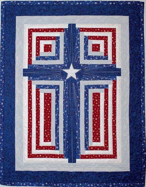 "God Bless America! Sizes: 34.5"" x 46.5"" (43"" x 58"") 51.5"" x 69.5"""