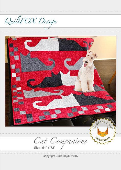 "Cat Companions, size: 61"" x 73"""