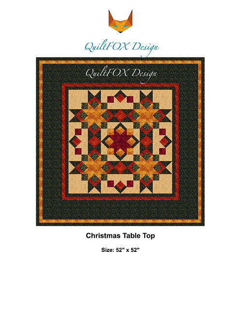 "Christmas Table Topper, size: 52"" x 52"""