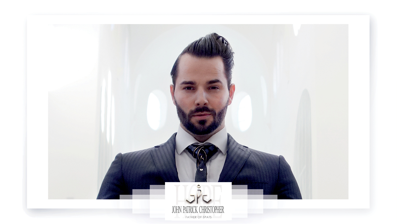luxury vegan leather tie - spattie