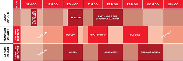 Horaires Red Pigs Festival 2019