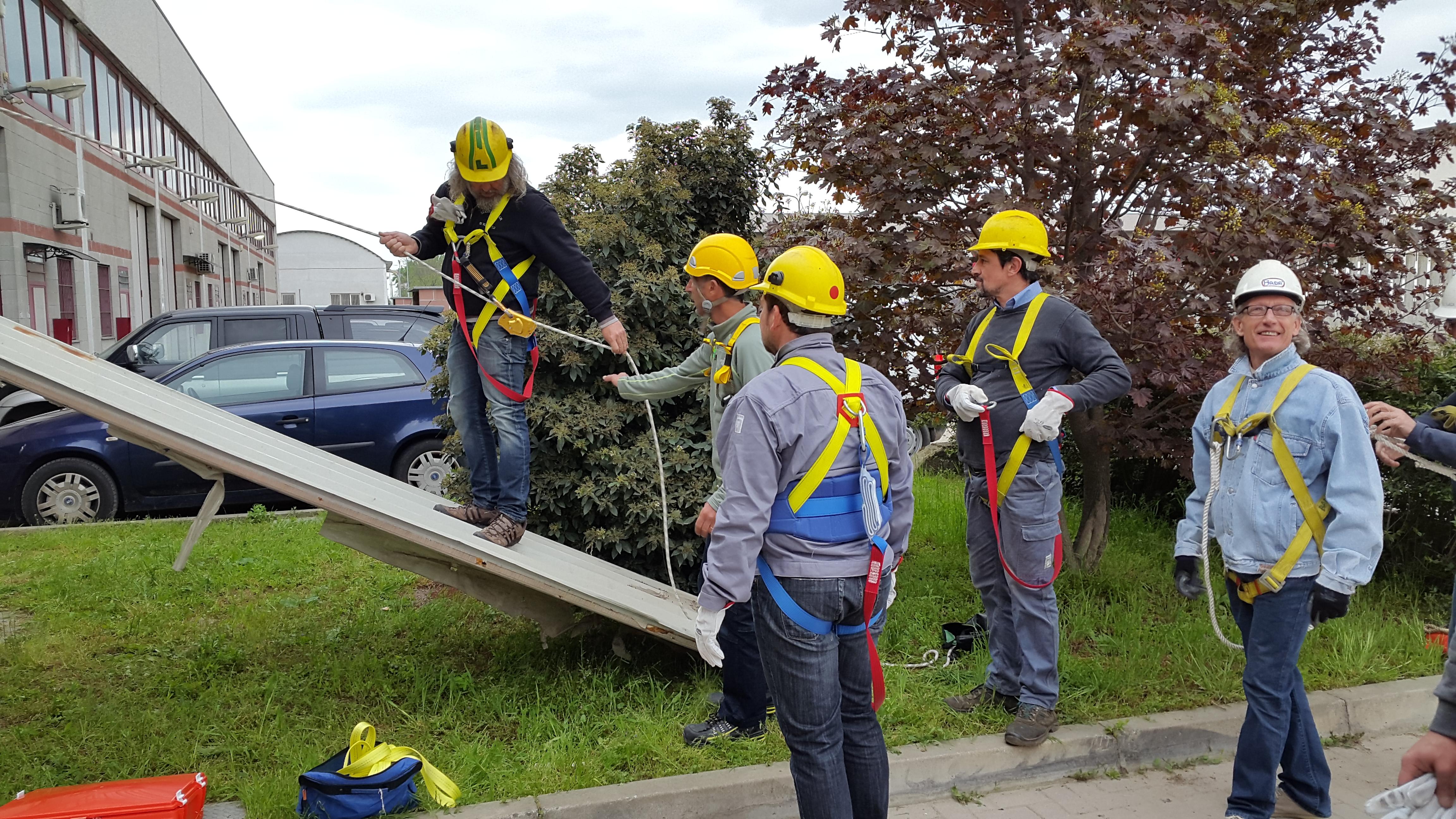 Corso lavori in altezza su tetti-7