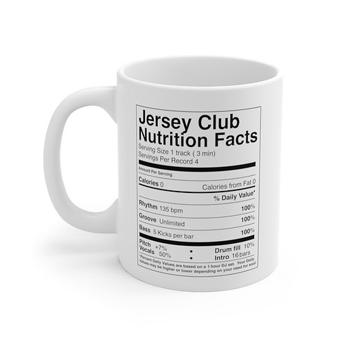 JERSEY CLUB COFFEE Mug 11oz