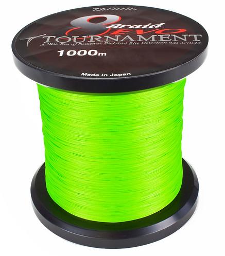 Daiwa Schnur Tournament 8 Braid Evo Farbe Chartreuse