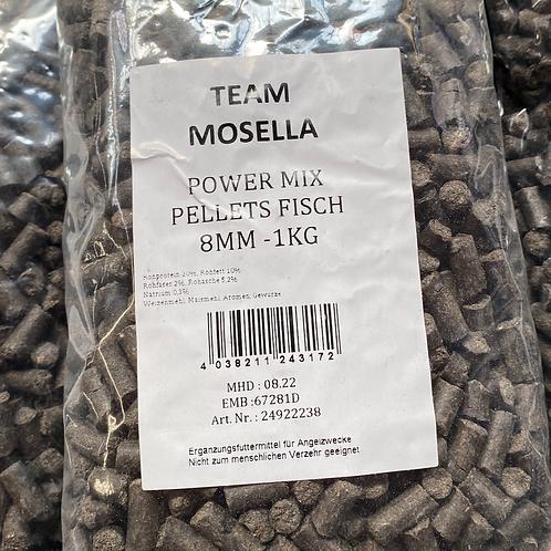 Mosella Power Mix Pellets Fisch 8mm 1Kg