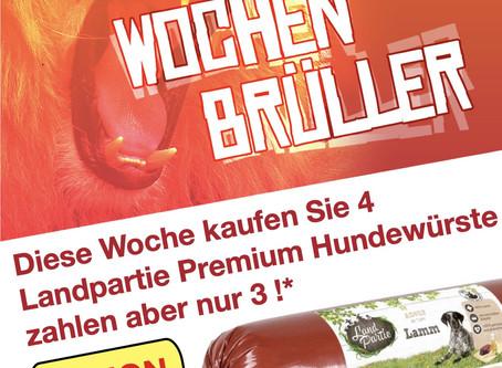 4 Landpartie Premium Hundewürste kaufen aber nur 3 bezahlen!!! Nur bis 12.09.2020!!!