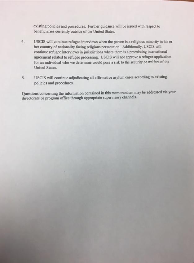 New Uscis Memo Adjustment Of Status And Refugeeasylee Petitions