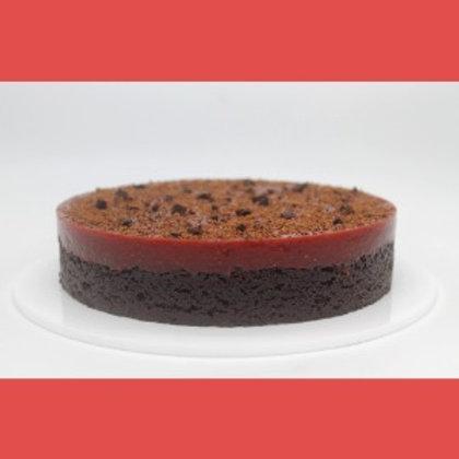 Brownie with Strawberry Jam