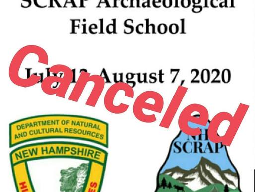 Update 2020 SCRAP Field School