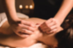 Male manual worker doing spa massage of