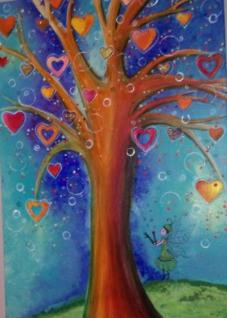 Baum des Lebens, MixedMedia, Leinwand 50