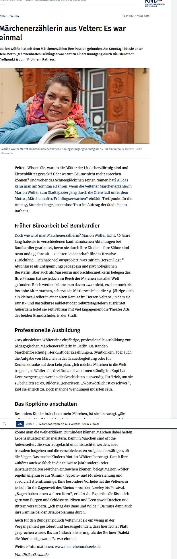 Märkische_Allgemeine_5.4.19_-_Märchenerz