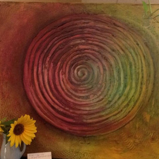 Spirale, MixedMediaAcryl Leinwand 50x70