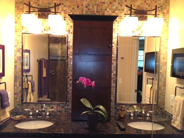 Custom designed vanity cabinet