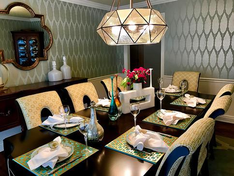 Transistional dining room, Brecksville Ohio