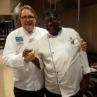 Mike and a fellow Chef