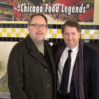 with chef David Rosengarten