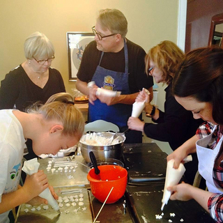 Mike teaching a pastry class