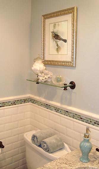 Traditional bath remodel