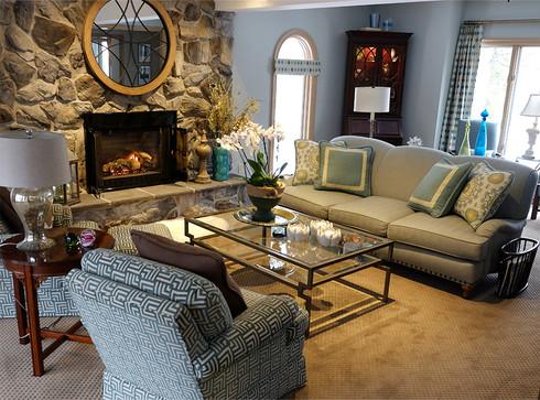 Transistional living room, Brecksville Ohio