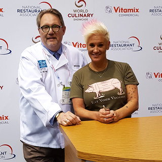 Mike and Chef Anne Burrell