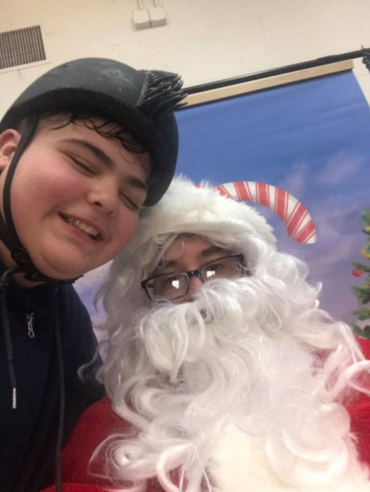 JP and Santa