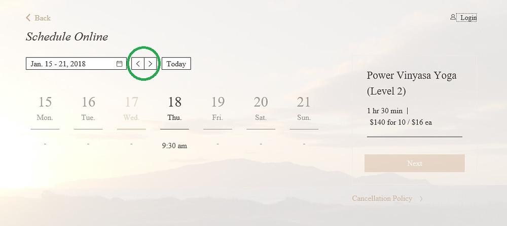 Scroll calendar