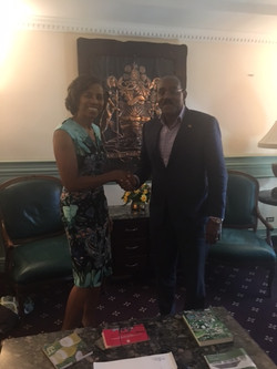 With Antigua's Prime Minister Browne