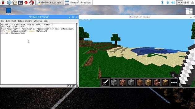 Creating a Minecraft Clock with Python on Raspberry Pi