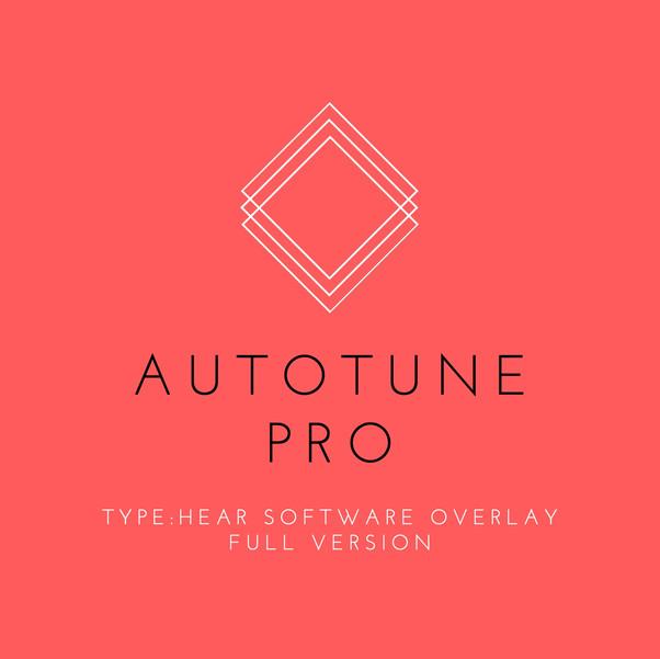 Autotune Pro TYPE:HEAR Full Software Overlay
