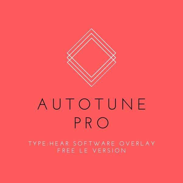 Autotune Pro TYPE:HEAR LE Software Overlay