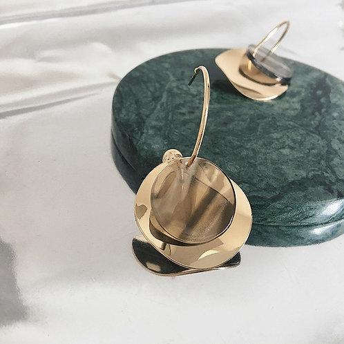 Round Metal Earrings