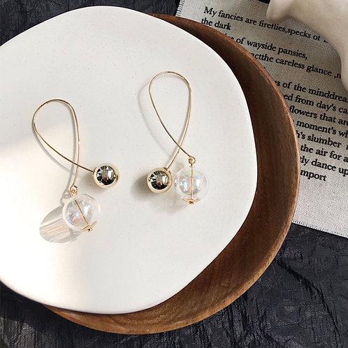 Clear Orbs Earrings