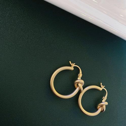 Knotted Loop Earrings