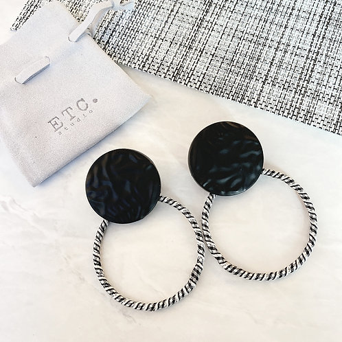 Grey Loop Earrings
