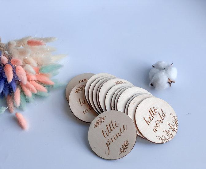 Wooden milestone cards