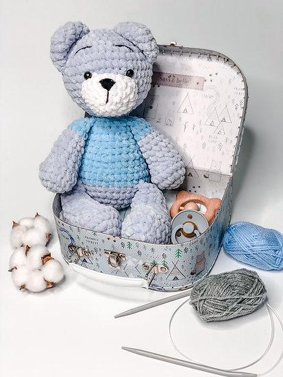 """Small box """"Grey teddy boy"""""""