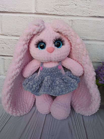 Helen the bunny with pinafore dress