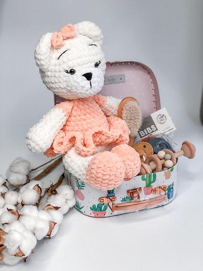 "Medium box ""Peachy perfect teddy"""